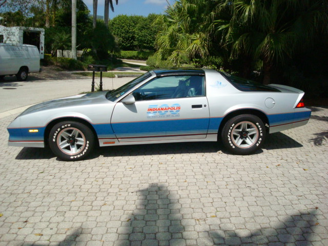 1982 CHEVROLET CAMARO INDY PACE CAR COUPE - Side Profile - 89616