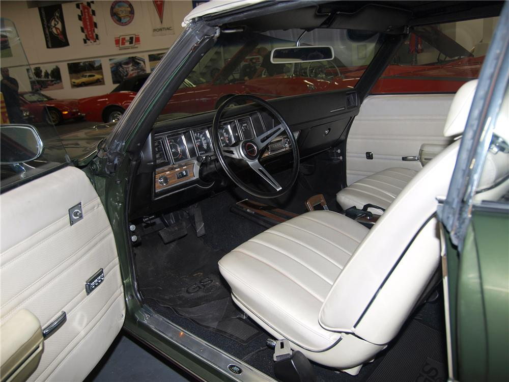 1970 BUICK GS 455 STAGE 1 CONVERTIBLE - Interior - 89635