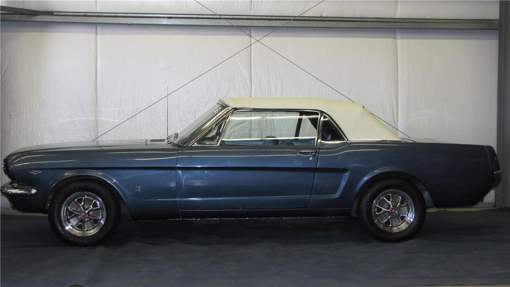 1965 FORD MUSTANG CONVERTIBLE - Side Profile - 89661