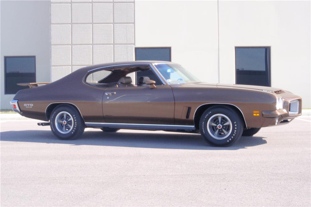 1972 PONTIAC GTO 2 DOOR HARDTOP - Side Profile - 89670