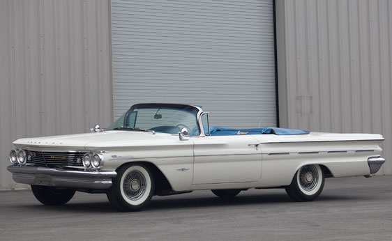1960 PONTIAC BONNEVILLE TRI-POWER CONVERTIBLE - Front 3/4 - 89716