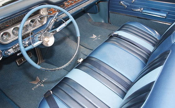 1960 PONTIAC BONNEVILLE TRI-POWER CONVERTIBLE - Interior - 89716