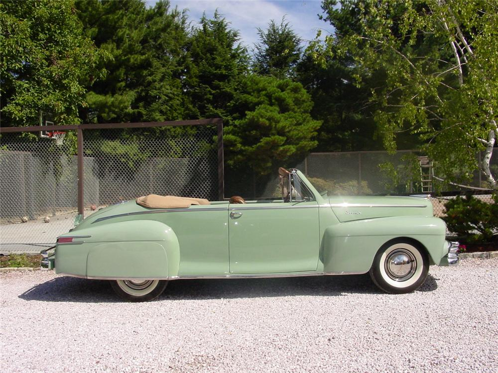1948 LINCOLN CONTINENTAL CONVERTIBLE - Side Profile - 89753
