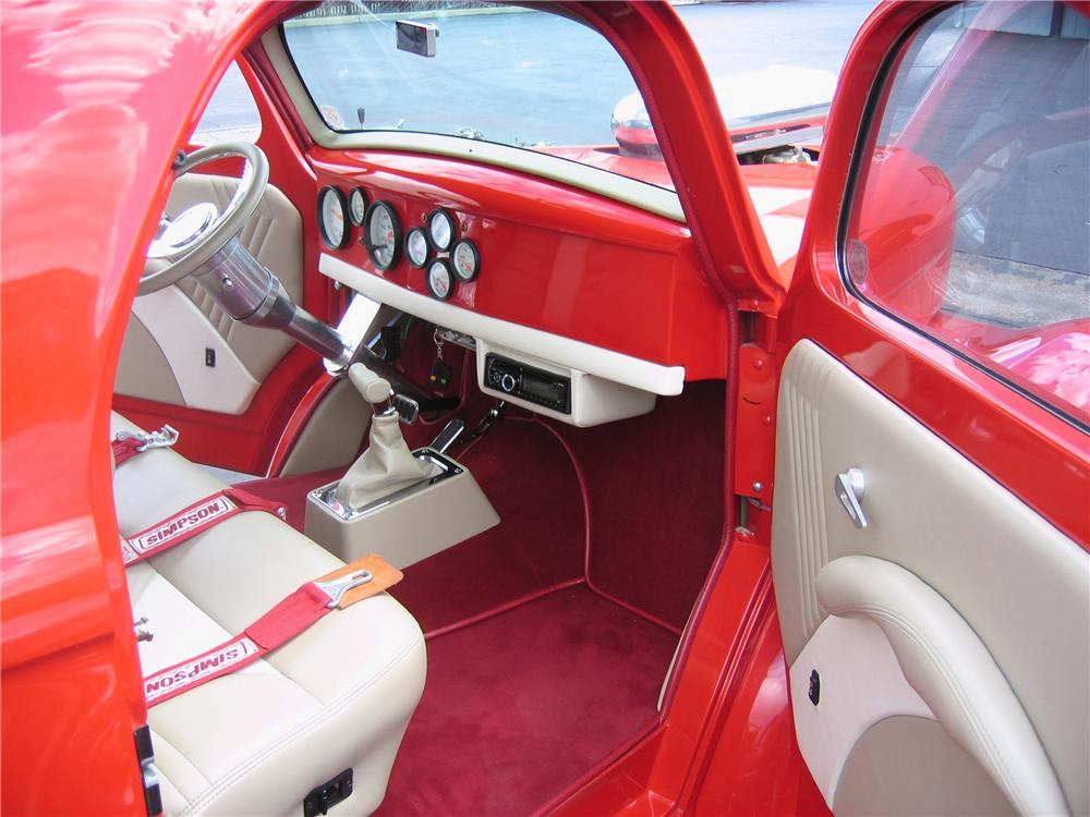 1941 WILLYS PRO STREET COUPE - Interior - 90893