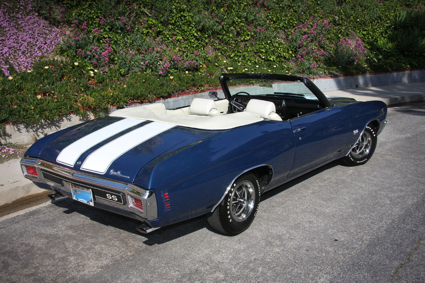 1970 CHEVROLET CHEVELLE SS 454 CONVERTIBLE - Front 3/4 - 90895
