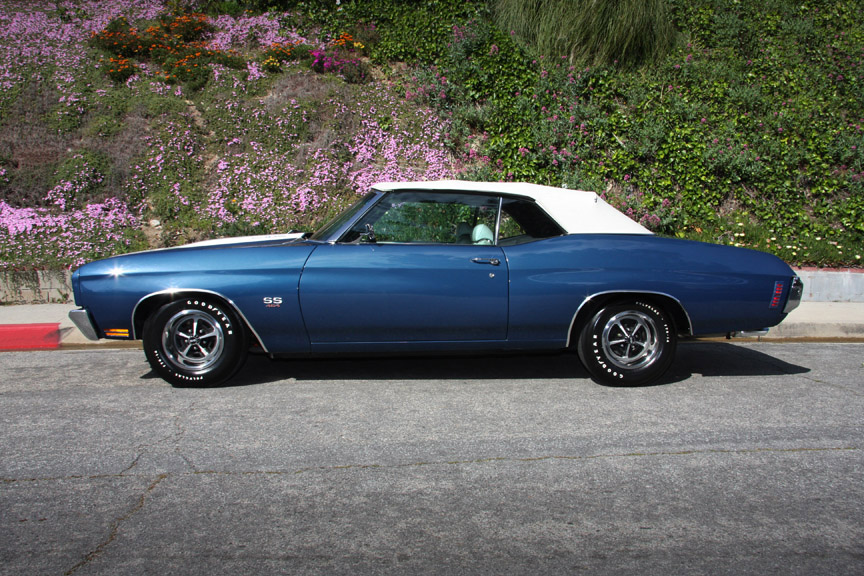 1970 CHEVROLET CHEVELLE SS 454 CONVERTIBLE - Side Profile - 90895