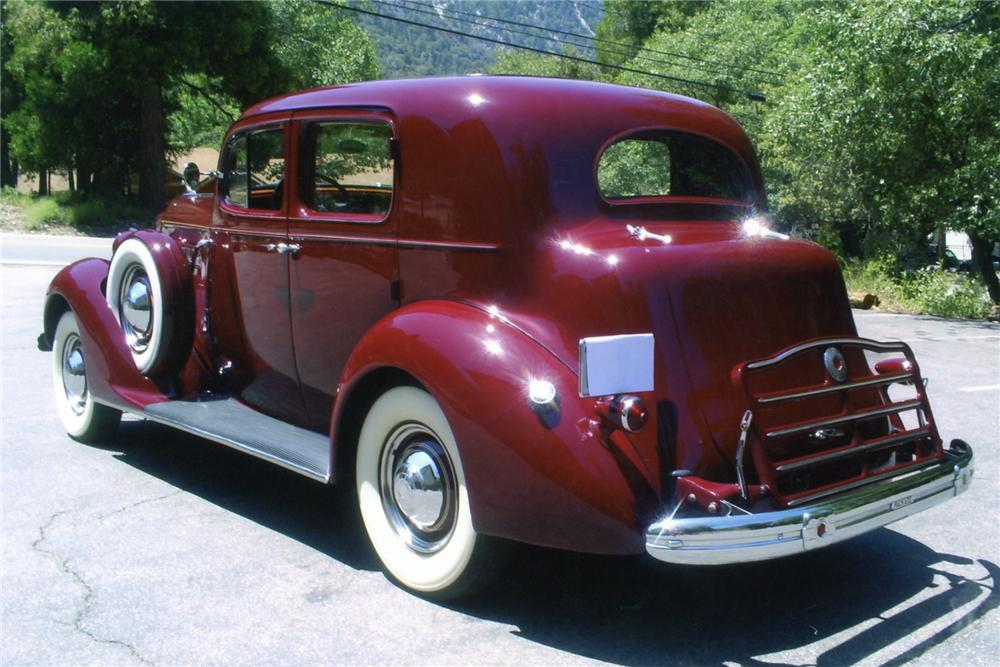 1937 PACKARD 120 CLUB SEDAN - Rear 3/4 - 90897