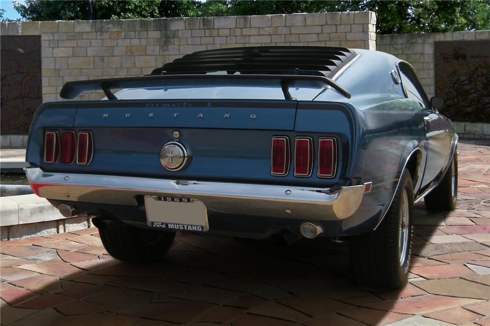 1969 FORD MUSTANG MACH 1 FASTBACK - Rear 3/4 - 90901