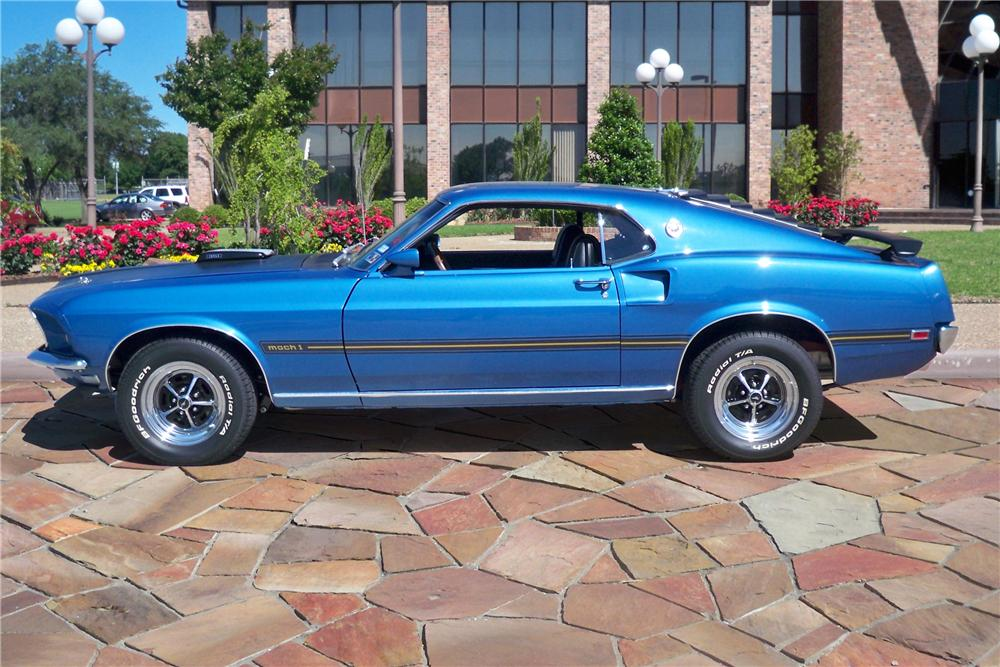 1969 FORD MUSTANG MACH 1 FASTBACK - Side Profile - 90901
