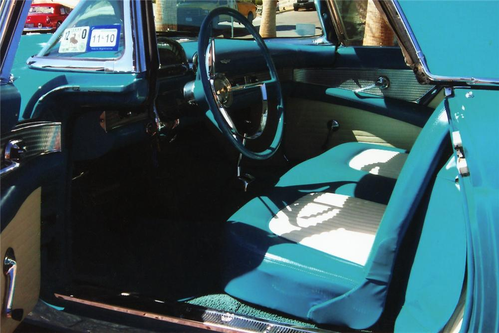 1956 FORD THUNDERBIRD 2 DOOR CONVERTIBLE - Interior - 90905