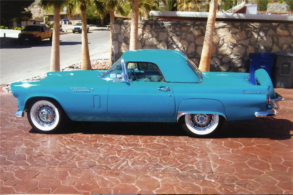 1956 FORD THUNDERBIRD 2 DOOR CONVERTIBLE - Side Profile - 90905