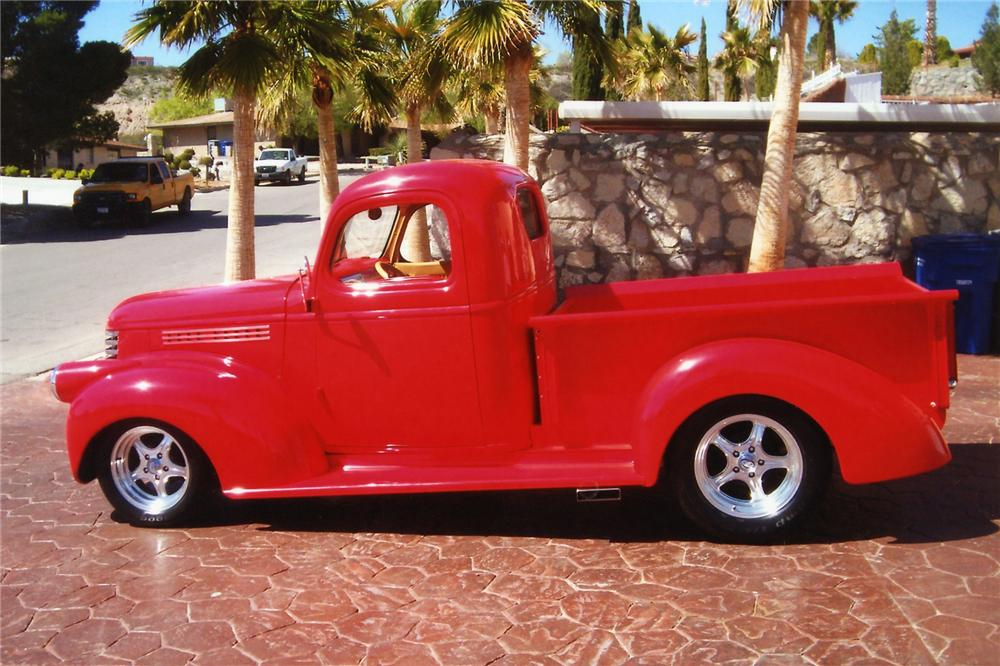 1946 CHEVROLET CUSTOM PICKUP - Side Profile - 90908