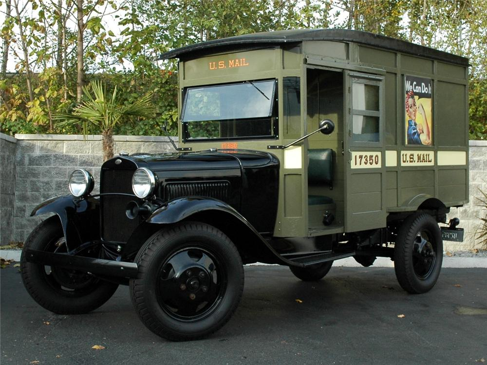 1931 FORD MODEL AA POSTAL DELIVERY TRUCK - Front 3/4 - 90934