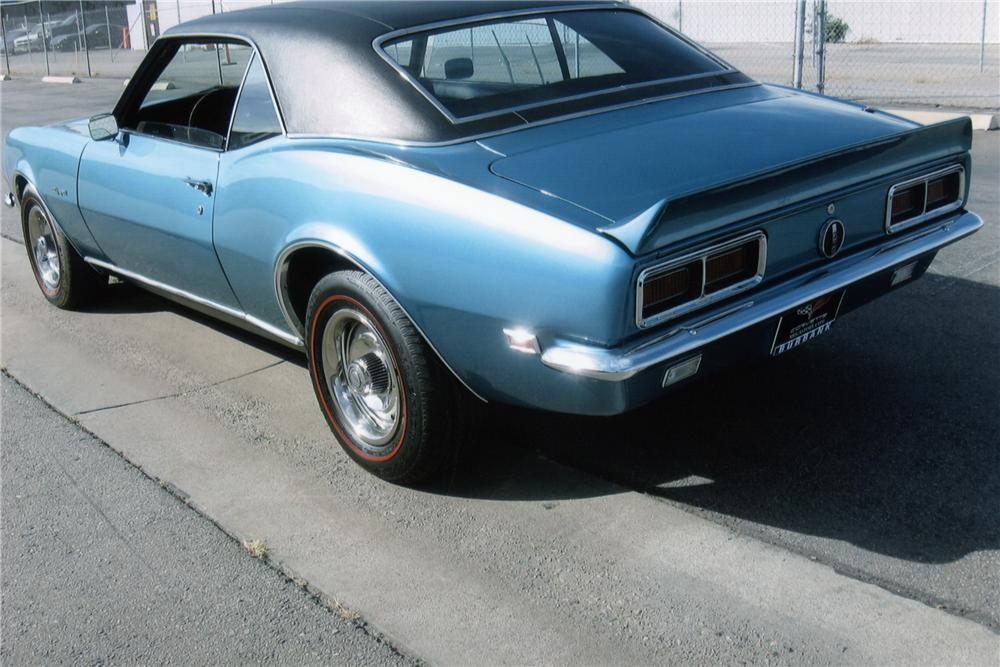 1968 CHEVROLET CAMARO RS 2 DOOR COUPE - Rear 3/4 - 90948