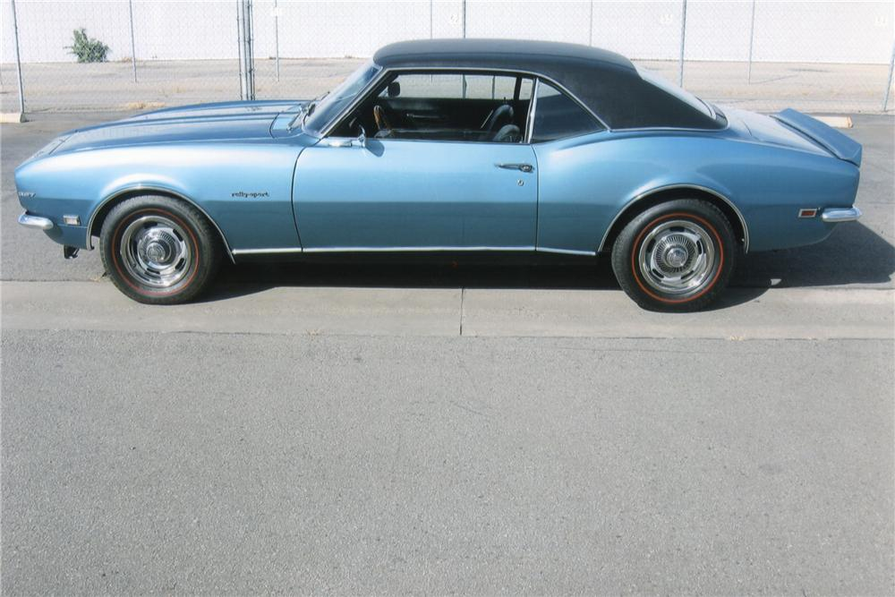 1968 CHEVROLET CAMARO RS 2 DOOR COUPE - Side Profile - 90948