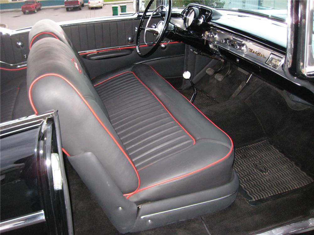 1957 CHEVROLET BEL AIR 2 DOOR CUSTOM COUPE - Interior - 90951