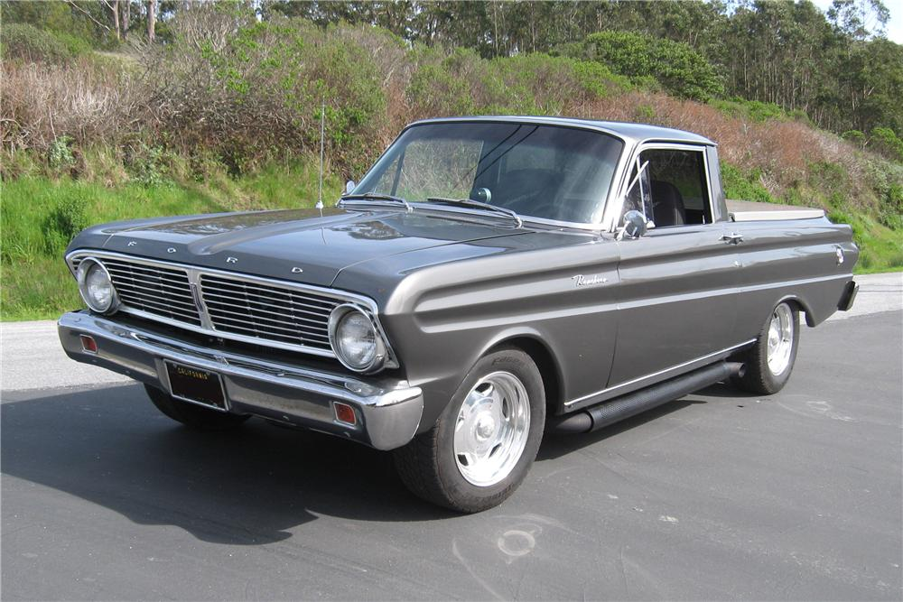 1965 FORD RANCHERO CUSTOM PICKUP - Front 3/4 - 90955