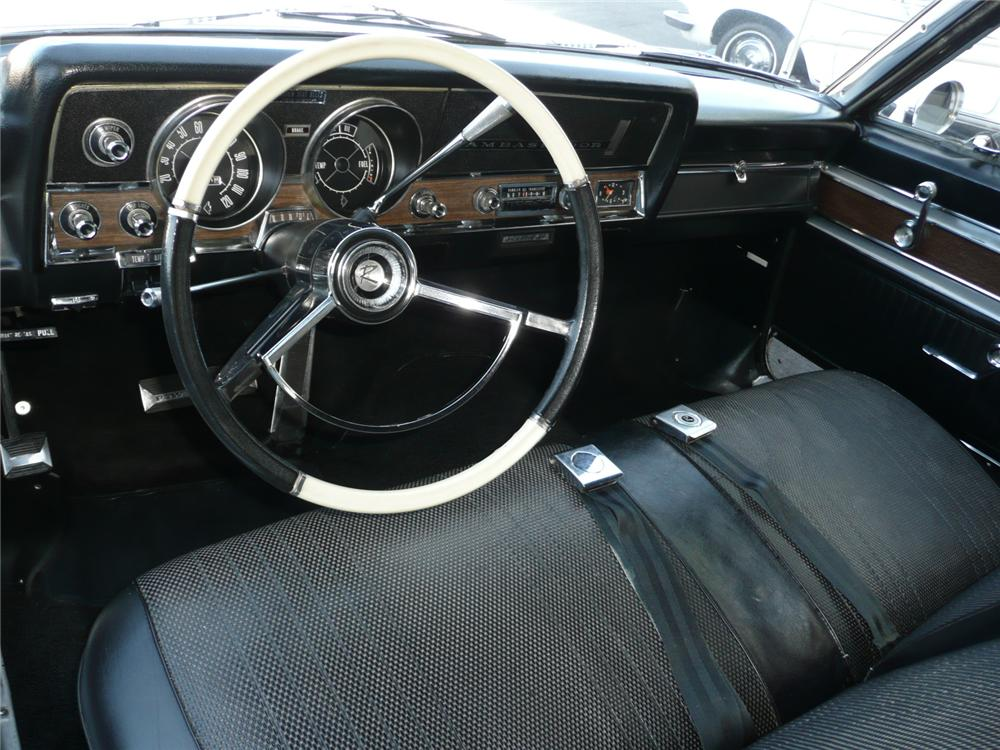1966 AMERICAN MOTORS AMBASSADOR 2 DOOR CONVERTIBLE - Interior - 90957