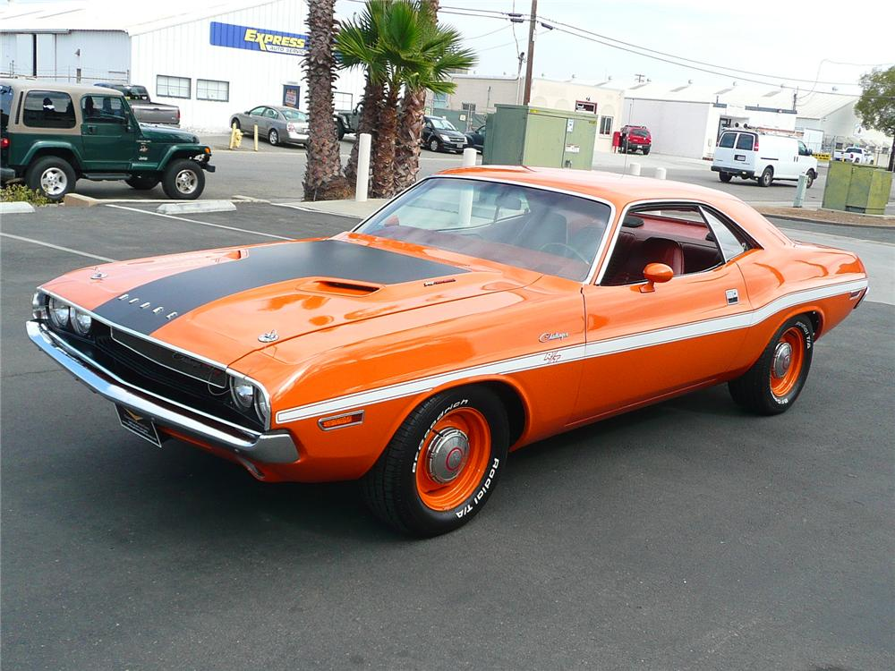 1970 DODGE CHALLENGER COUPE - Front 3/4 - 90968