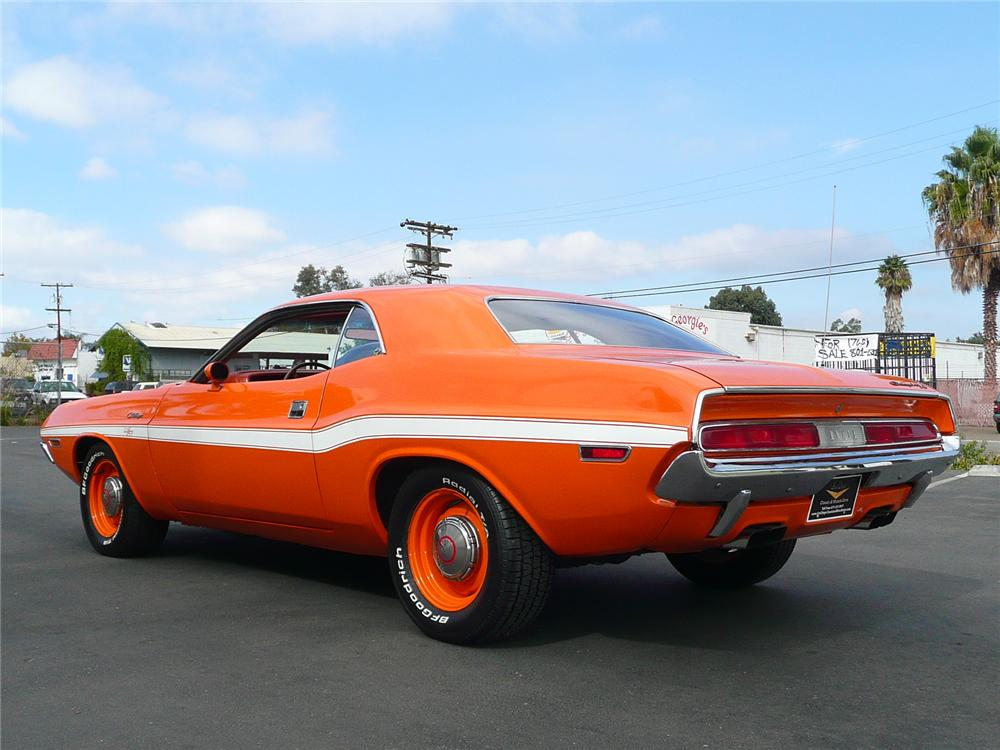 1970 DODGE CHALLENGER COUPE - Rear 3/4 - 90968