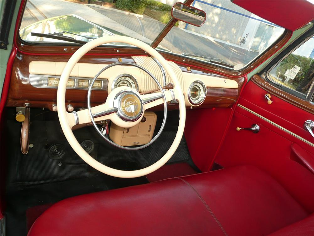 1942 FORD SUPER DELUXE CONVERTIBLE - Interior - 90970