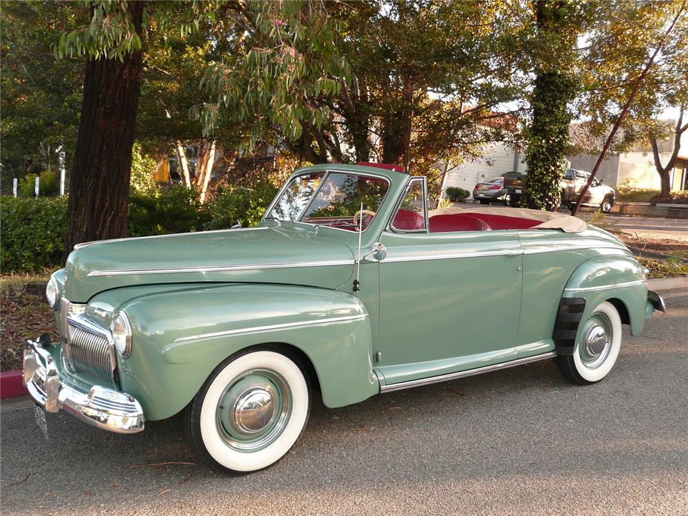 1942 FORD SUPER DELUXE CONVERTIBLE - Side Profile - 90970