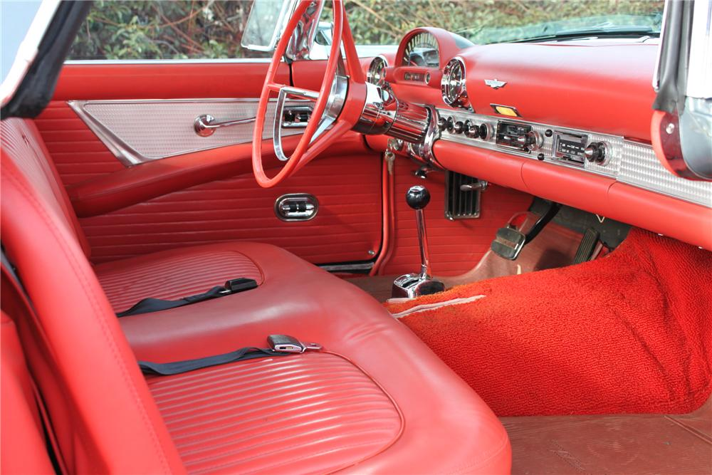 1956 FORD THUNDERBIRD CONVERTIBLE - Interior - 90977