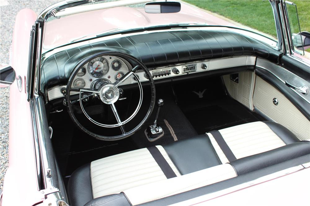 1957 FORD THUNDERBIRD CONVERTIBLE - Interior - 90978