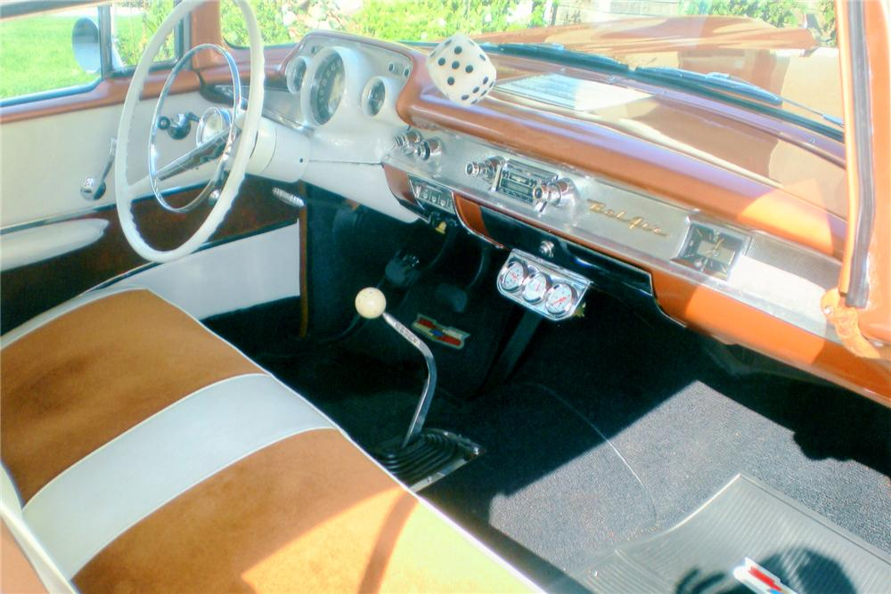 1957 CHEVROLET BEL AIR SPORT COUPE - Interior - 90983
