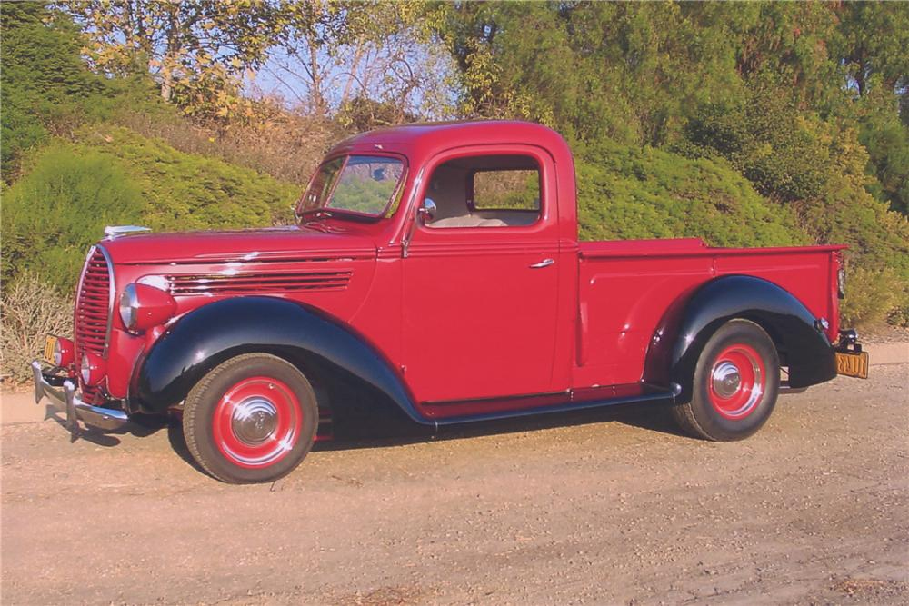 1938 FORD CUSTOM PICKUP TRUCK - Side Profile - 90988