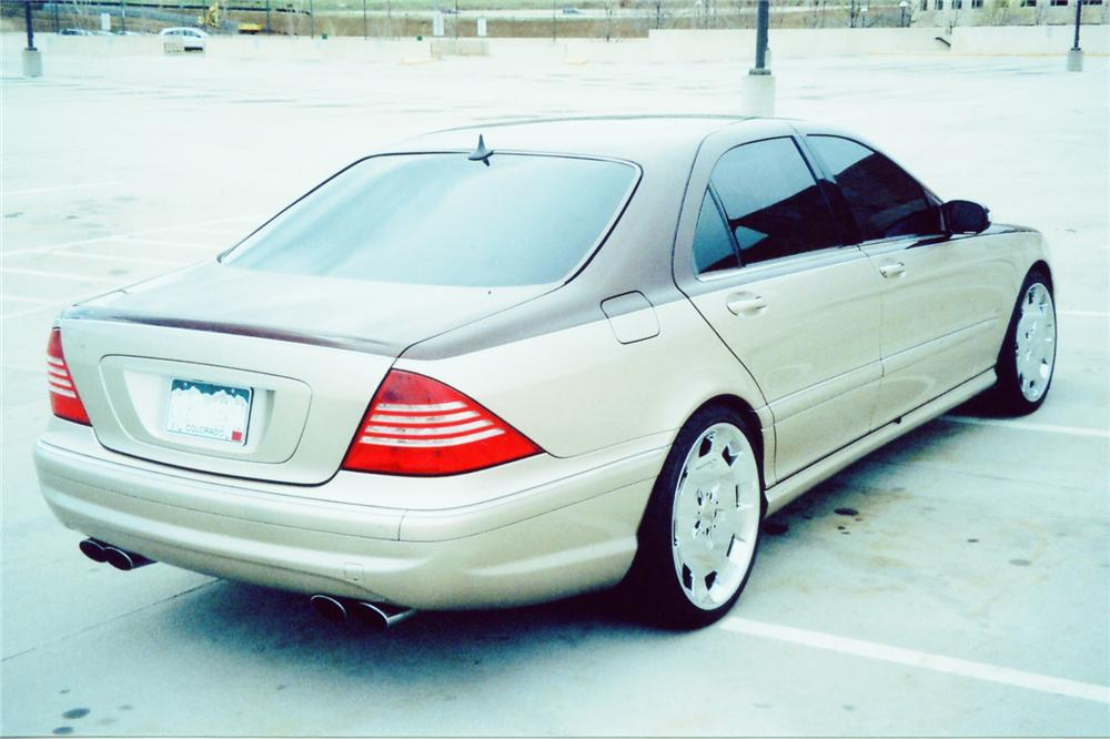 2003 MERCEDES-BENZ S55 AMG 4 DOOR - Rear 3/4 - 90993