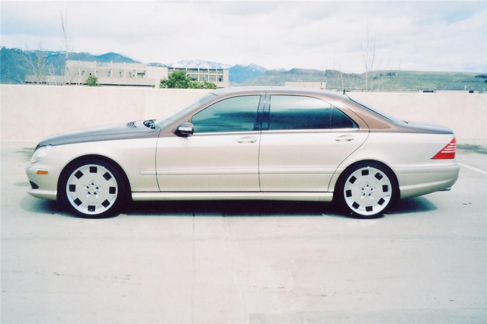 2003 MERCEDES-BENZ S55 AMG 4 DOOR - Side Profile - 90993