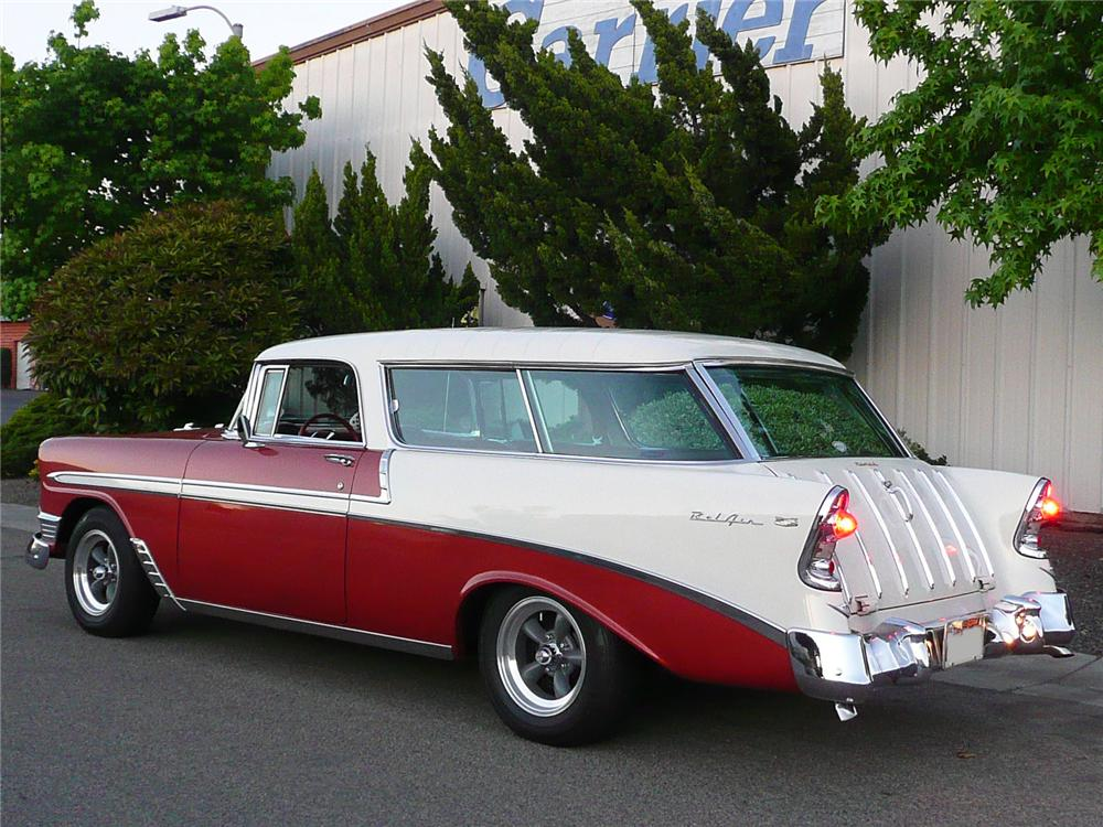 1956 CHEVROLET NOMAD CUSTOM WAGON - Rear 3/4 - 90997