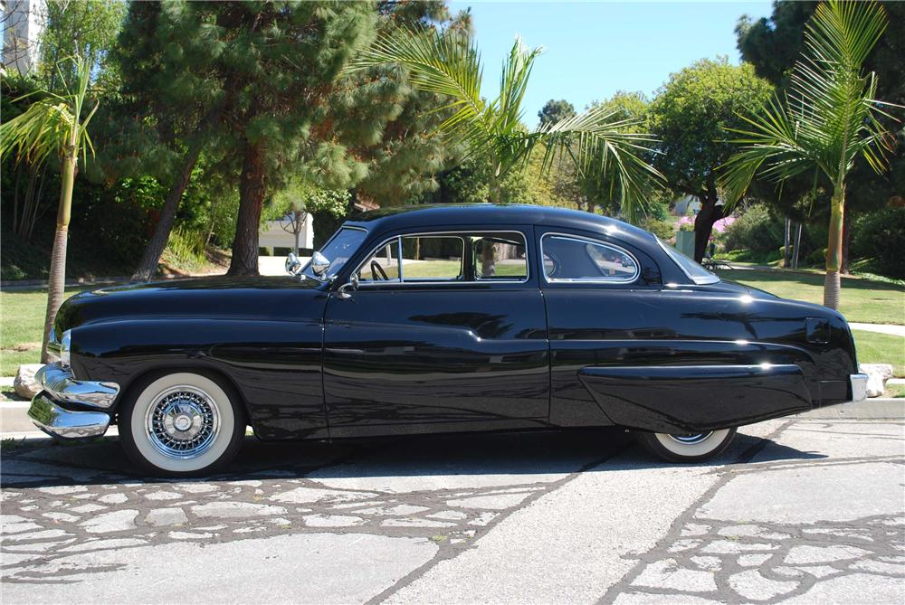 1951 MERCURY CUSTOM HARDTOP 2 DOOR COUPE - Side Profile - 91001