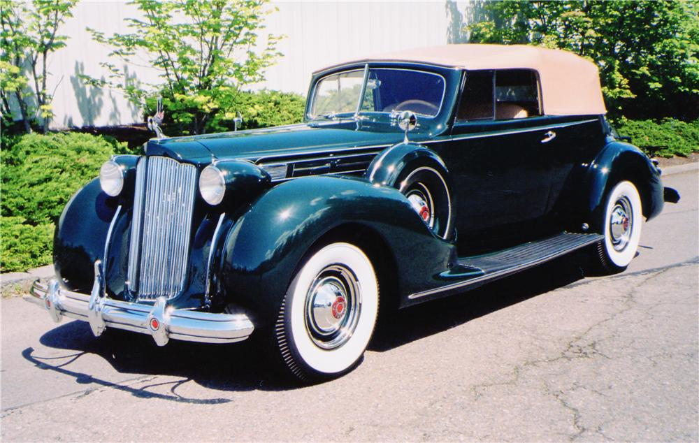 1938 PACKARD VICTORIA CONVERTIBLE - Front 3/4 - 91009
