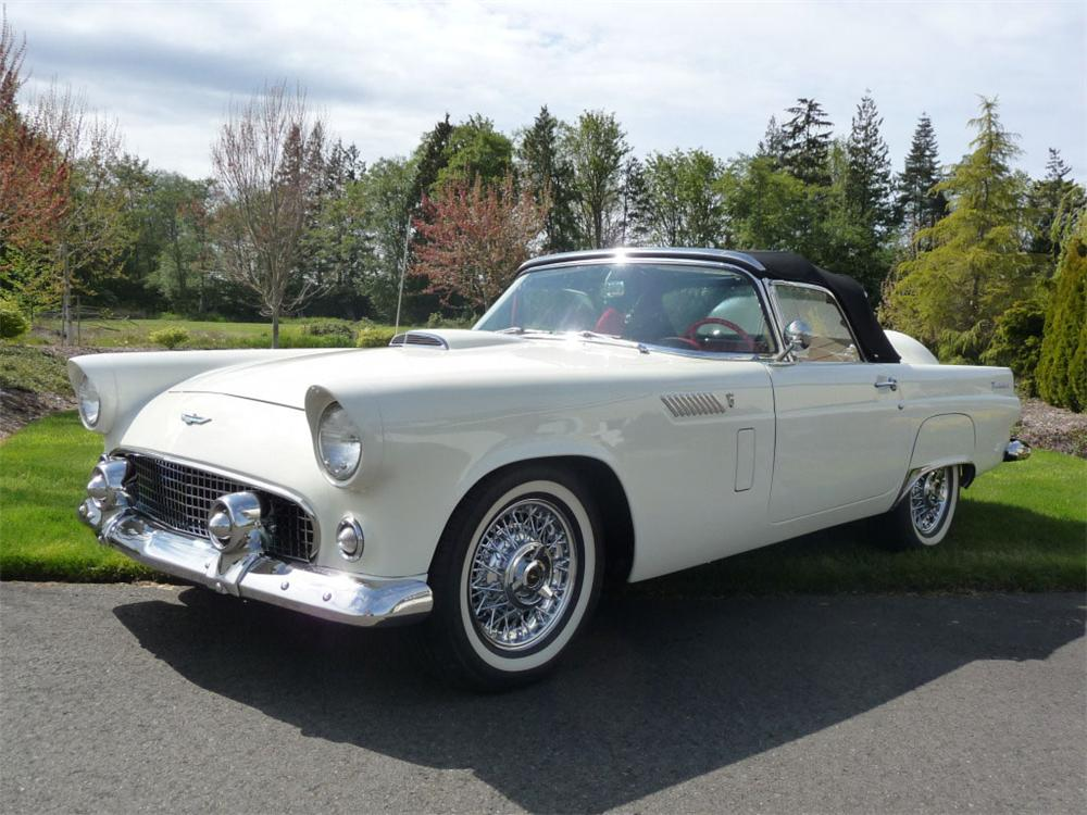 1956 FORD THUNDERBIRD CONVERTIBLE - Front 3/4 - 91011