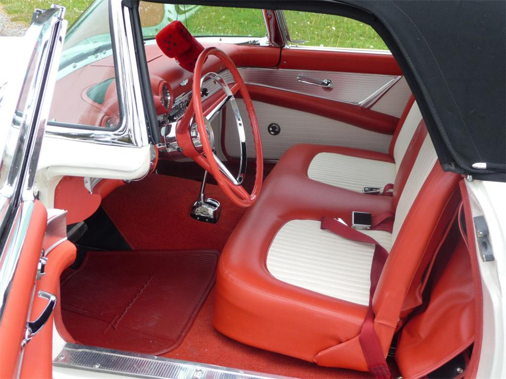 1956 FORD THUNDERBIRD CONVERTIBLE - Interior - 91011