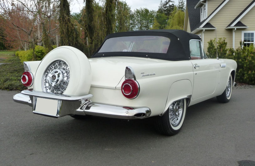 1956 FORD THUNDERBIRD CONVERTIBLE - Rear 3/4 - 91011