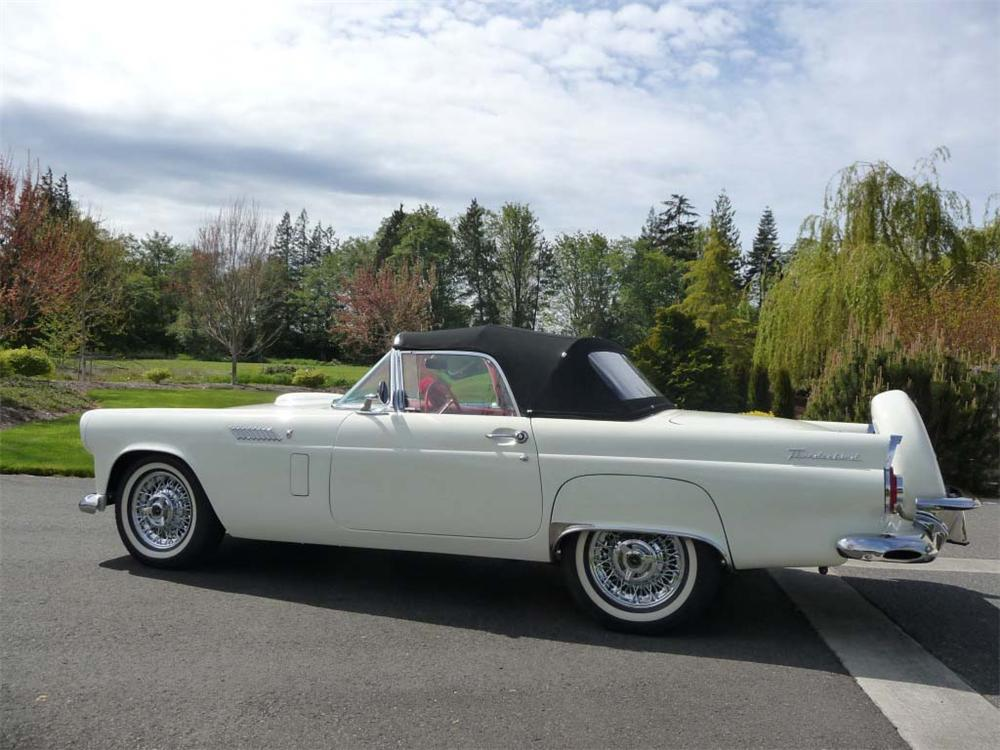 1956 FORD THUNDERBIRD CONVERTIBLE - Side Profile - 91011