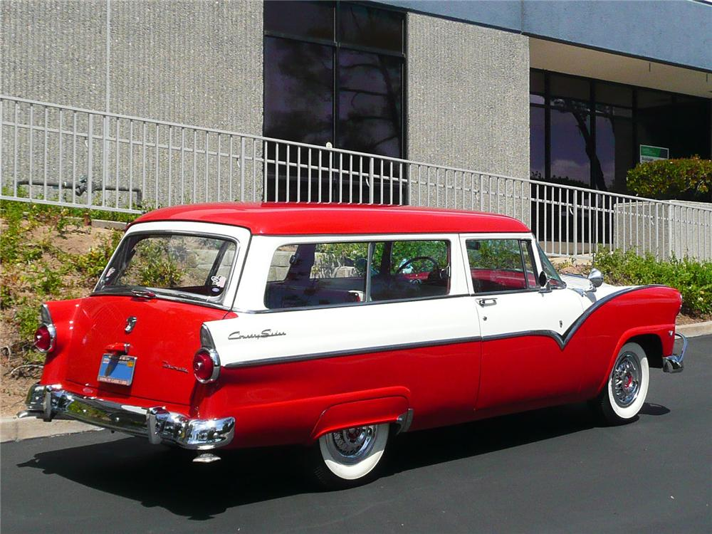 1955 FORD COUNTRY SEDAN WAGON - Rear 3/4 - 91018