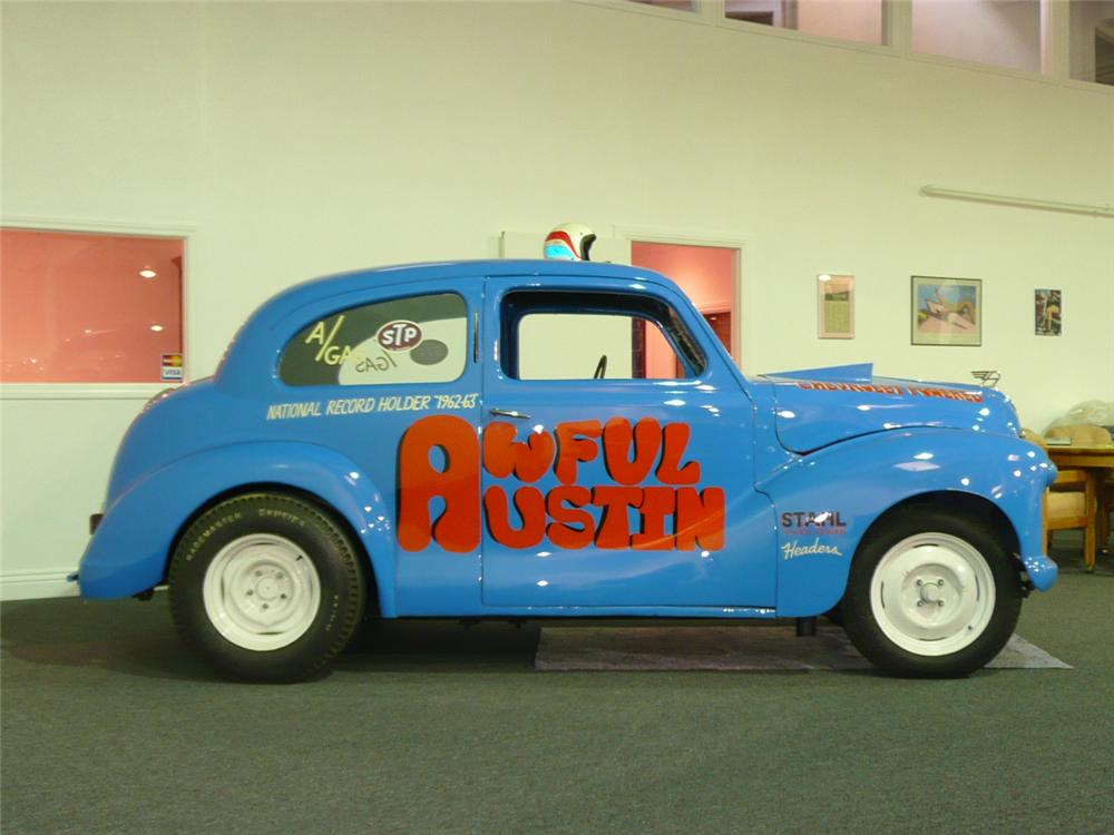 1950 AUSTIN DORSET CUSTOM VINTAGE DRAG CAR - Side Profile - 91020