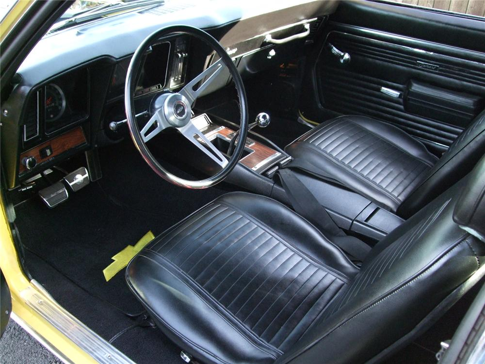 1969 CHEVROLET CAMARO Z/28 RS 2 DOOR COUPE - Interior - 91022