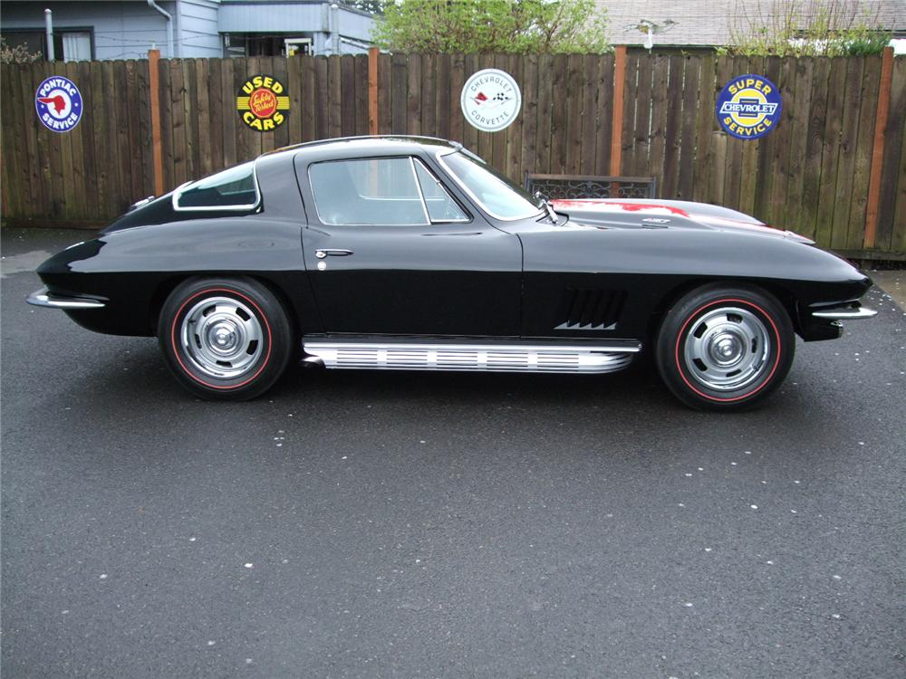1967 CHEVROLET CORVETTE 2 DOOR COUPE - Side Profile - 91023