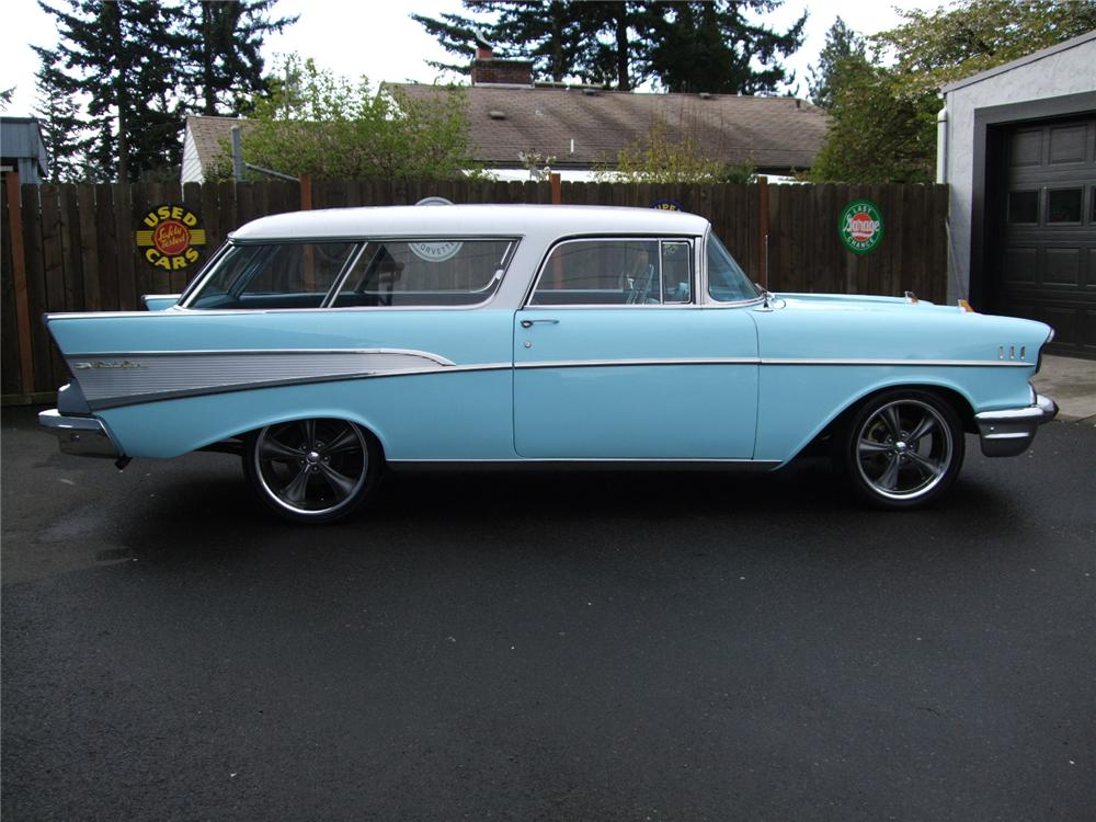1957 CHEVROLET NOMAD CUSTOM STATION WAGON - Side Profile - 91024