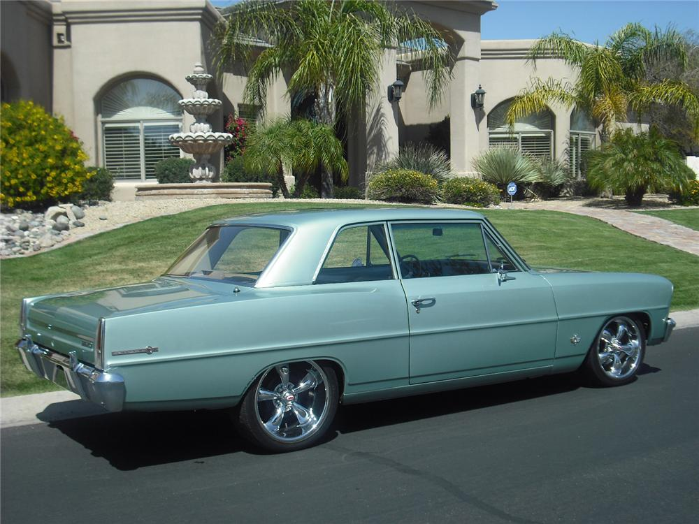1966 CHEVROLET NOVA 2 DOOR CUSTOM COUPE - Rear 3/4 - 91034