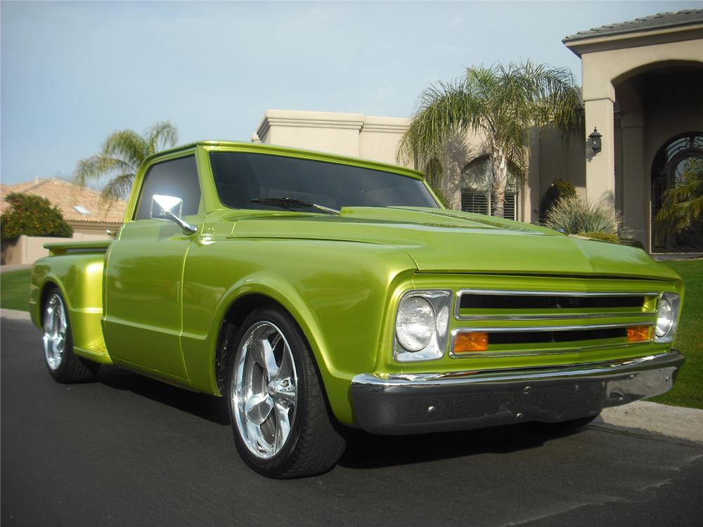 1968 CHEVROLET C-10 CUSTOM PICKUP - Front 3/4 - 91037