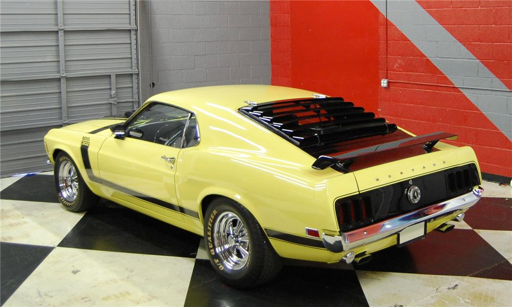 1970 FORD MUSTANG BOSS 302 CUSTOM FASTBACK - Rear 3/4 - 91042