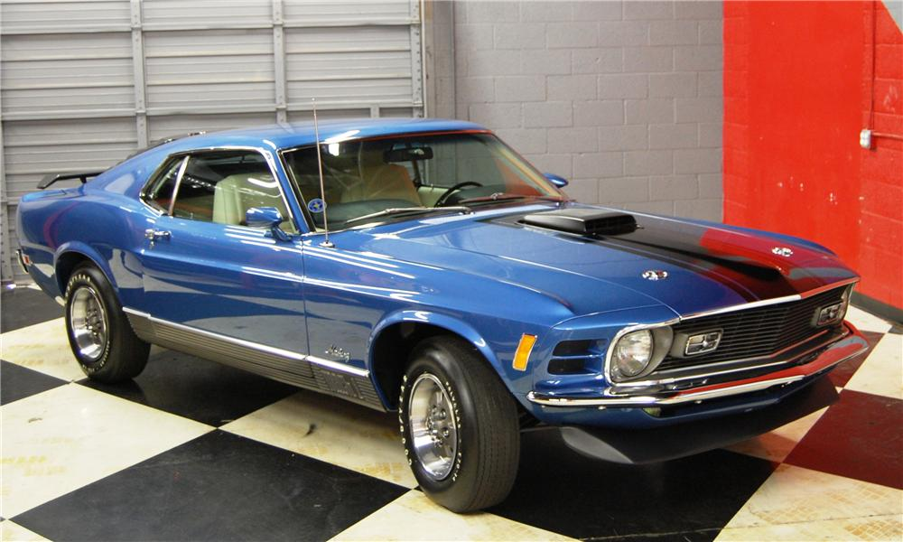 1970 FORD MUSTANG MACH 1 2 DOOR FASTBACK - Front 3/4 - 91044