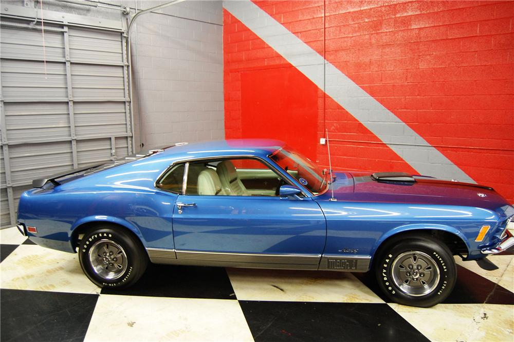 1970 FORD MUSTANG MACH 1 2 DOOR FASTBACK - Side Profile - 91044