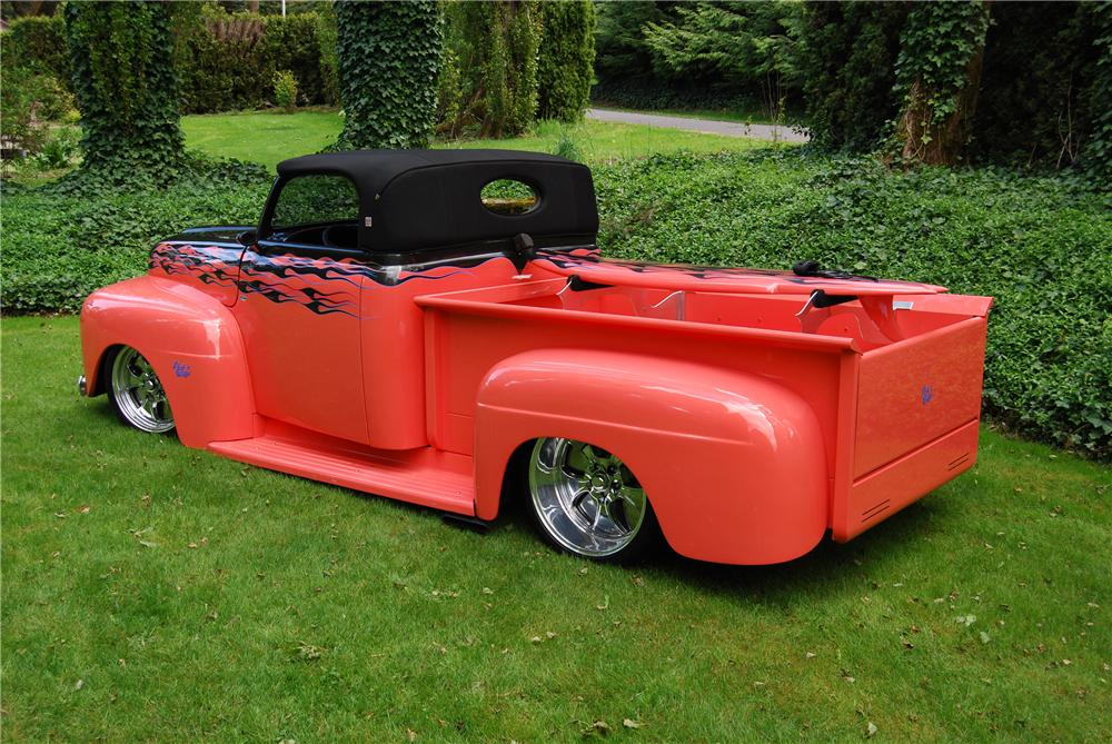 1950 FORD CUSTOM PICKUP - Rear 3/4 - 91048